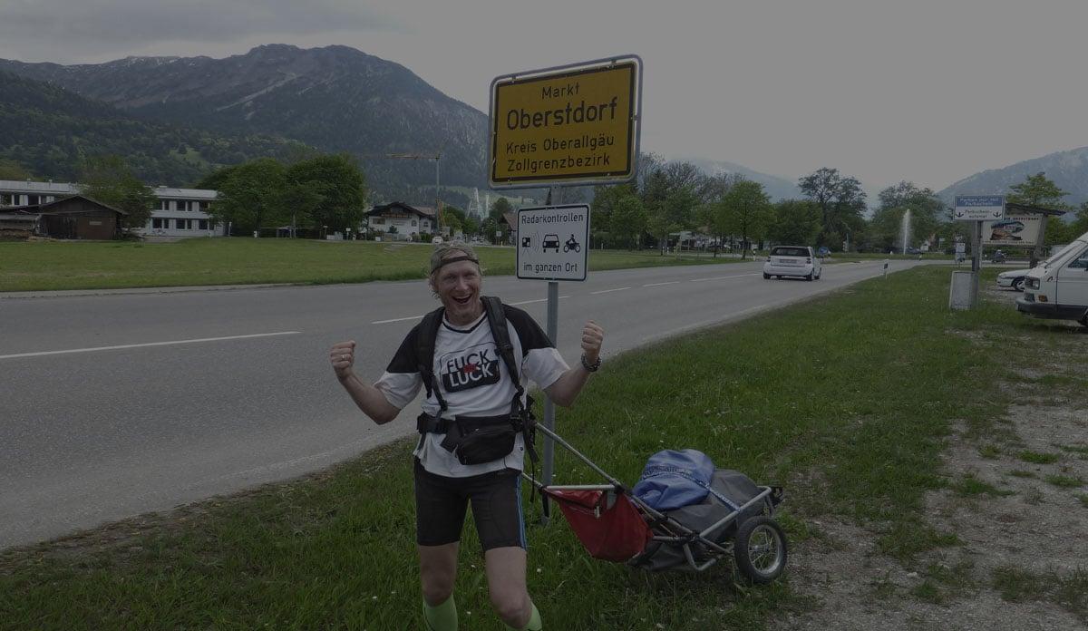Deutschland Lauf Ankunft Oberstdorf