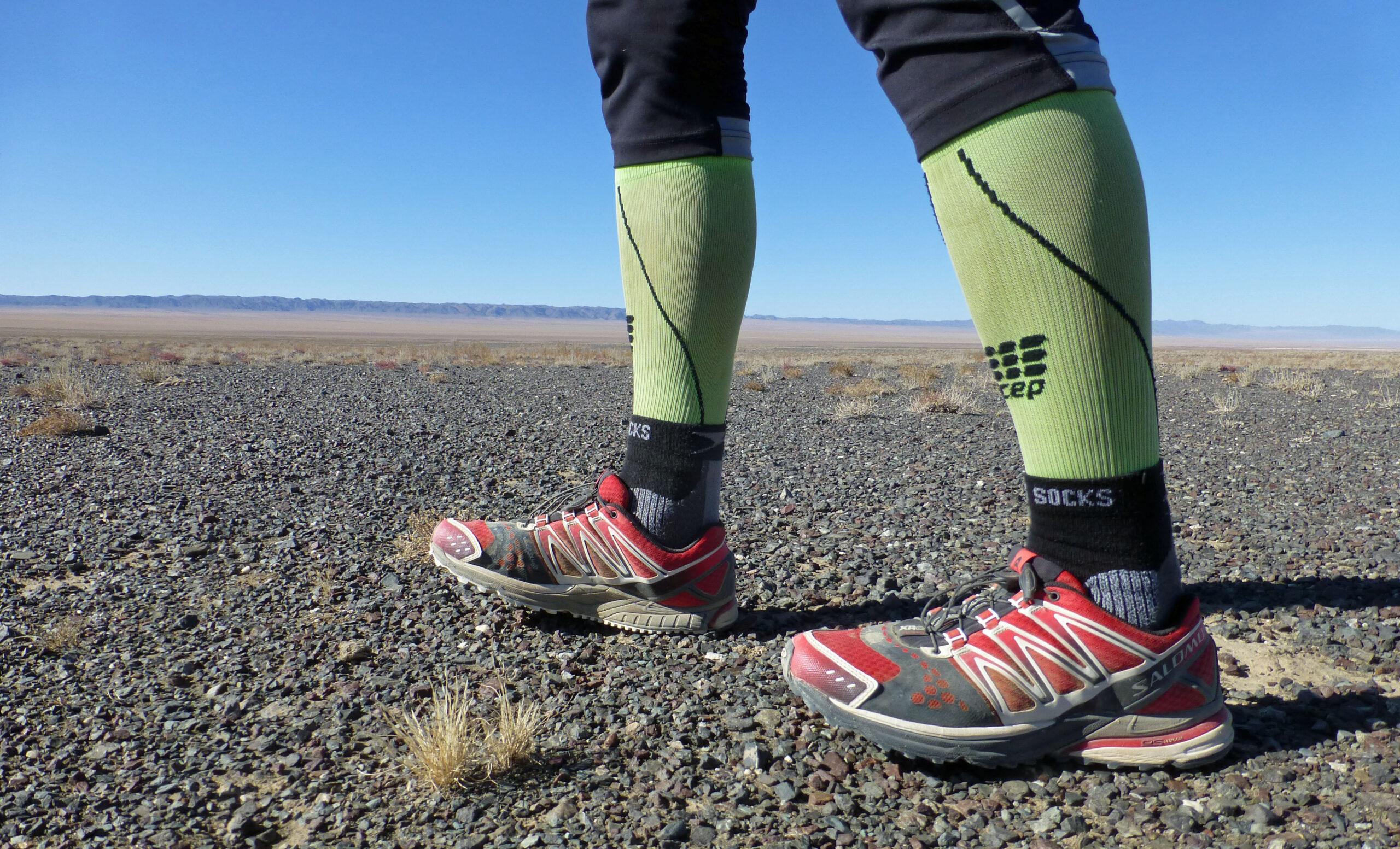 Laufschuhe in der Wüste