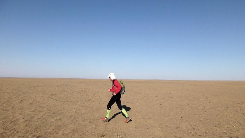 Lauf durch die Wüste Gobi