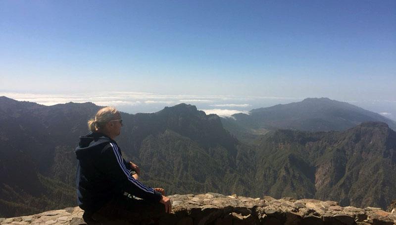 La Palma Meditation auf Berg