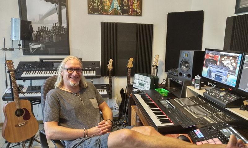 Stefan im Studio